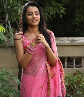 Trisha-pink-saree
