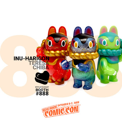 New York Comic Con 2018 Exclusive Otsukimi, Chinese Spring Festival and Muscat Inu-Harigon Vinyl Figures by Teresa Chiba x myplasticheart