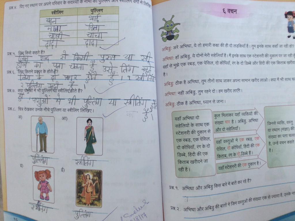 small resolution of Standard 3: Class-3rd Hindi Grammar \u0026 Worksheet (Ling)