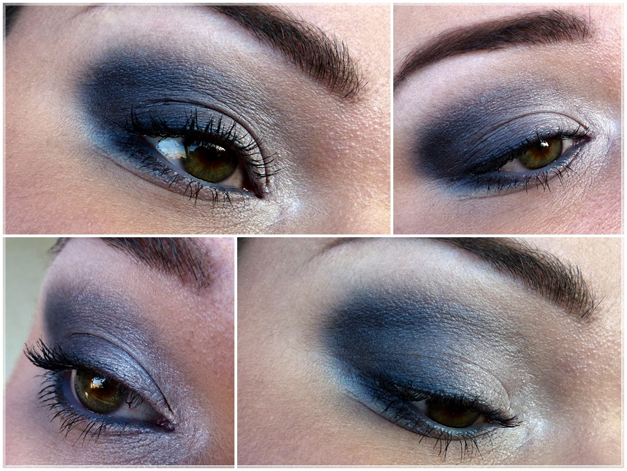 blauer smokey eyes look