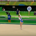 A Gymnast Begins Her Opening Tumbling Pass With A Split Ring Jump