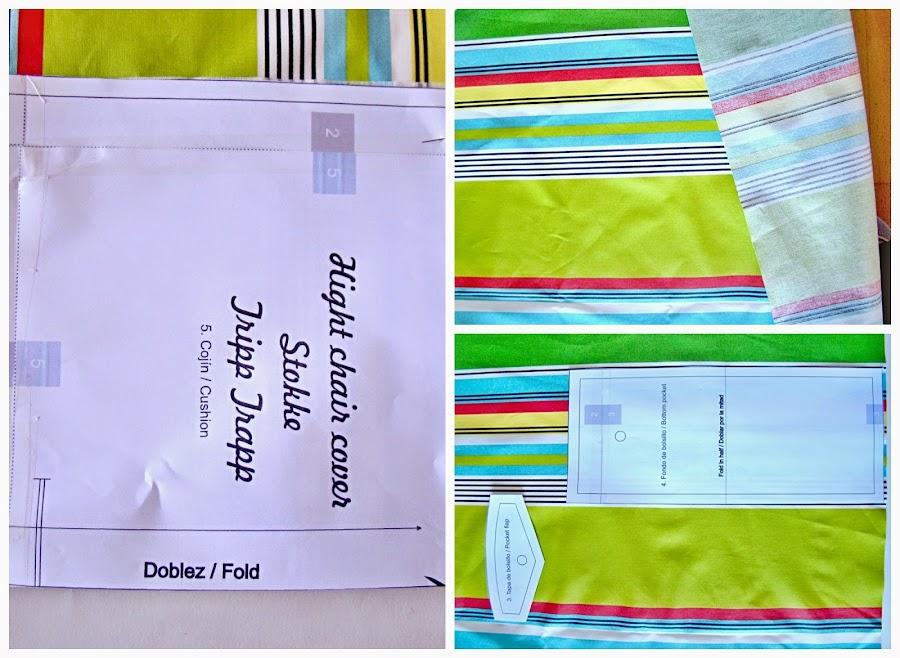 Ajustamos el patrón en papel con la tela