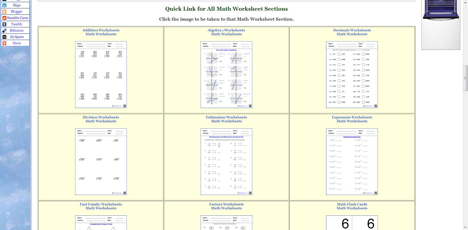 Intermediate Algebra Worksheet