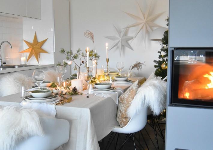 Decoraci n f cil 2 mesas de navidad en la cocina - Cocina navidad facil ...