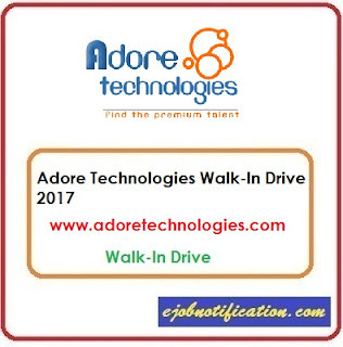 Adore Technologies Walk-In Freshers HR Executive jobs in Bangalore 5th-10th Oct'2017