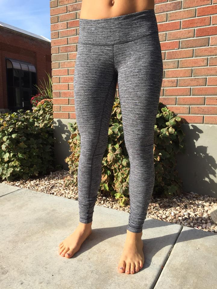 lululemon black coco pique wunder under pant