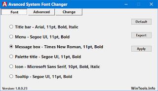 Advanced System Font Changer 1.1.2.33