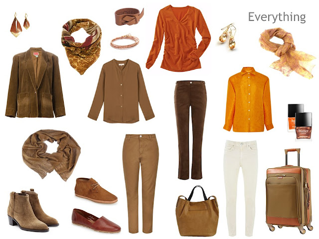 A travel capsule wardrobe in warm colors, inspired by Flaming June by Sir Frederic Leighton