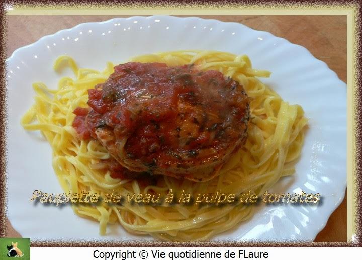 Vie quotidienne de FLaure: Paupiette de veau à la pulpe de tomates