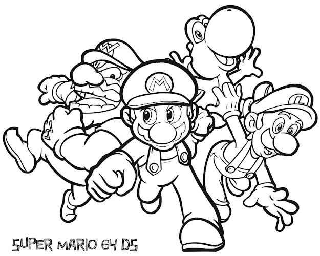 Jimbos Coloring Pages Super Mario Coloring Pages