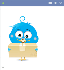 Bird post package icon