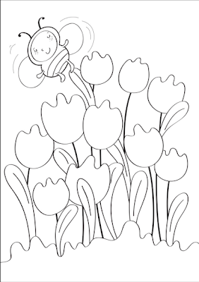 Spring tulips coloring page disney coloring pages for Disney spring coloring pages