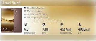 3. Huawei Mate 8