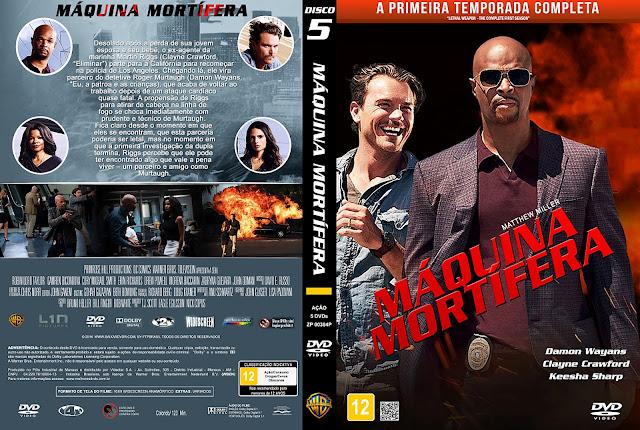 Capa DVD Máquina Mortífera Primeira Temporada Disco 5