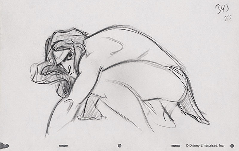 Animation Rough Disney Tarzan by Glen Keane