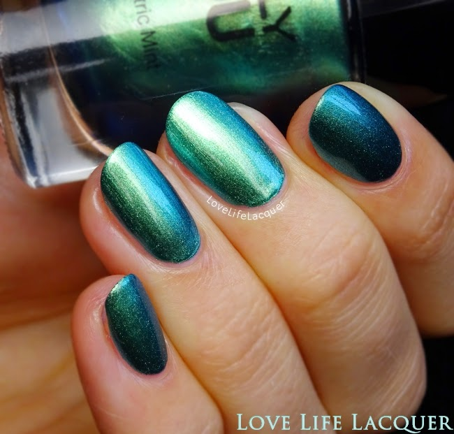 Only You Electric Mint swatch by @lovelifelacquer