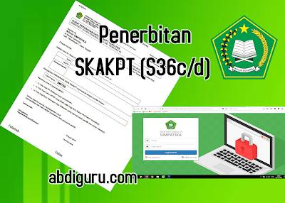 Penerbitan SKAKPT (S36c/d)