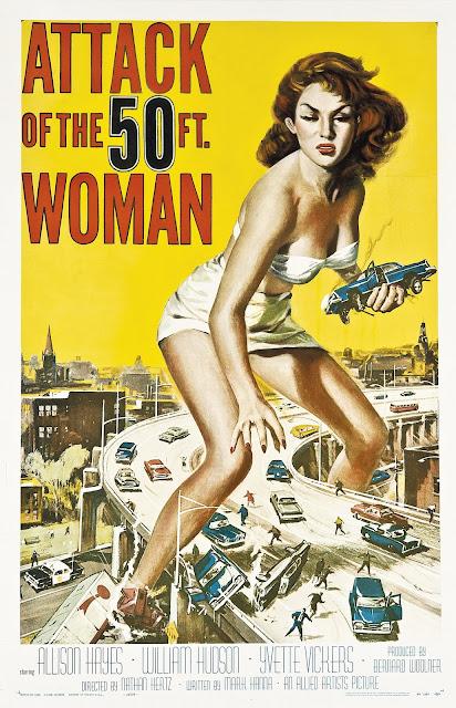 Póster película El ataque de la mujer de los 50 pies