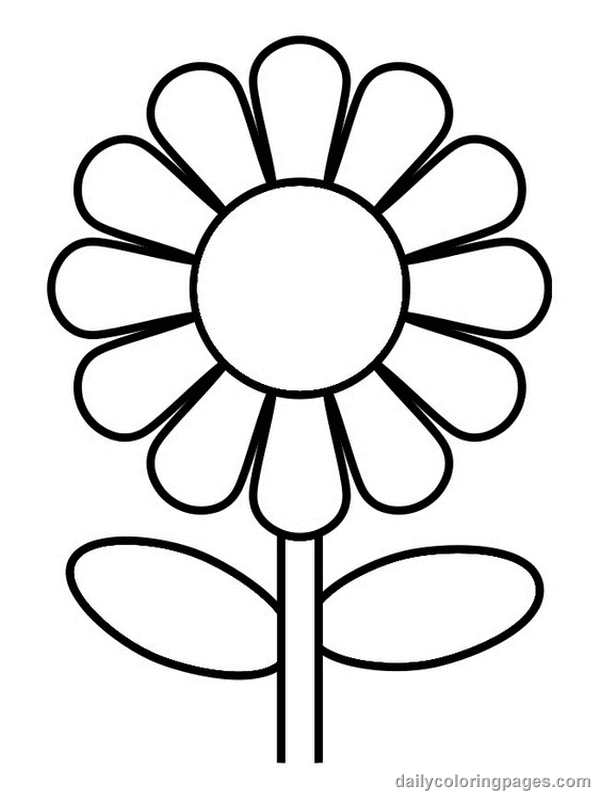 Empty Flower Pot Coloring Pages For Free