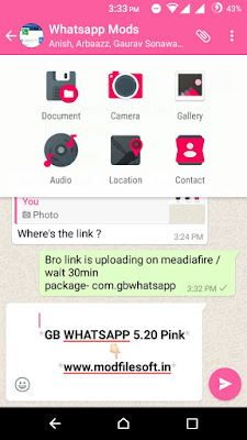 Android Games: GBWhatsapp 5 20 apk Pink Edition Mod By Sumit Kashyap