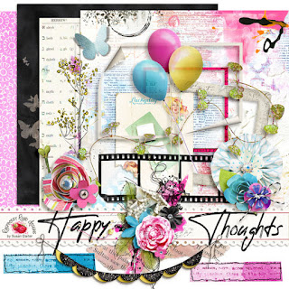 Happy Thoughts Scrapbook Collection & Freebie