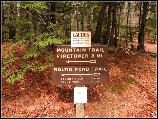 Señalización en el Pawtuckaway State Park (NH)
