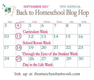 Back to Homeschool Blog Hop iHomeschool Netwrok