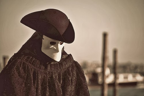 The mask called a Bauta, Carnival, Venice