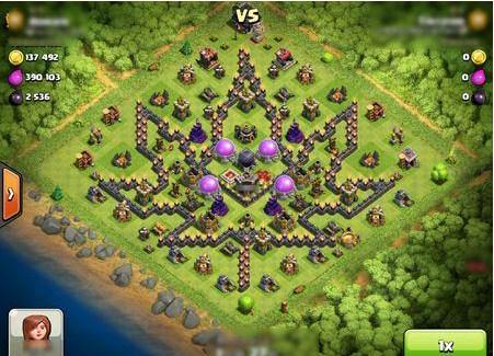 Kumpulan Bentuk Formasi Base Clash Of Clans Unik Keren Dan