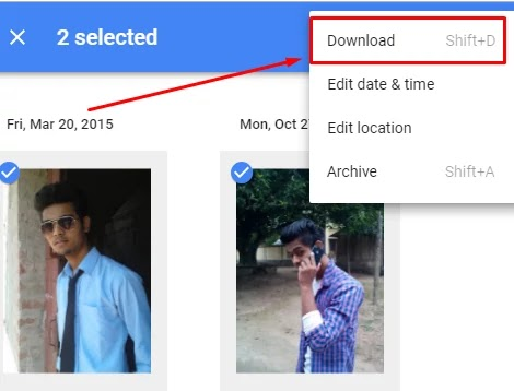 Google Photos Hindi