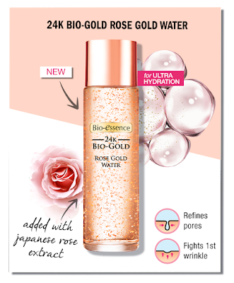 BIO-ESSENCE 24K BIO-GOLD ROSE GOLD WATER 20ML FREE SAMPLE