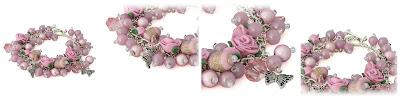 Pink Rose Charm Bracelet by Lottie Of London Jewelry