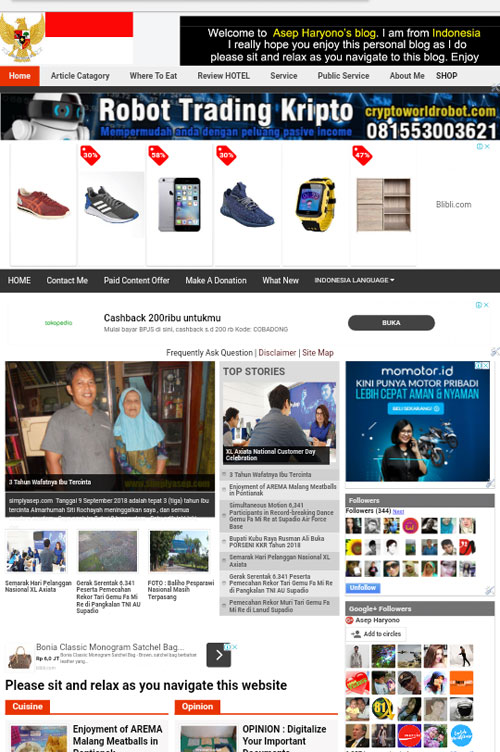 Tampilan blog saya masih tetap sama untuk sementara ini yakni bertemplate Portal Berita atau News Portal.  Gambar dari Internet