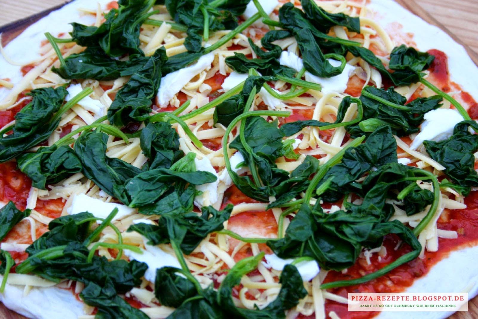 pizza spinat mit ei pizza rezepte italienische pizza zu hause selber backen. Black Bedroom Furniture Sets. Home Design Ideas