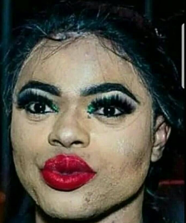 bobrisky real makeup face