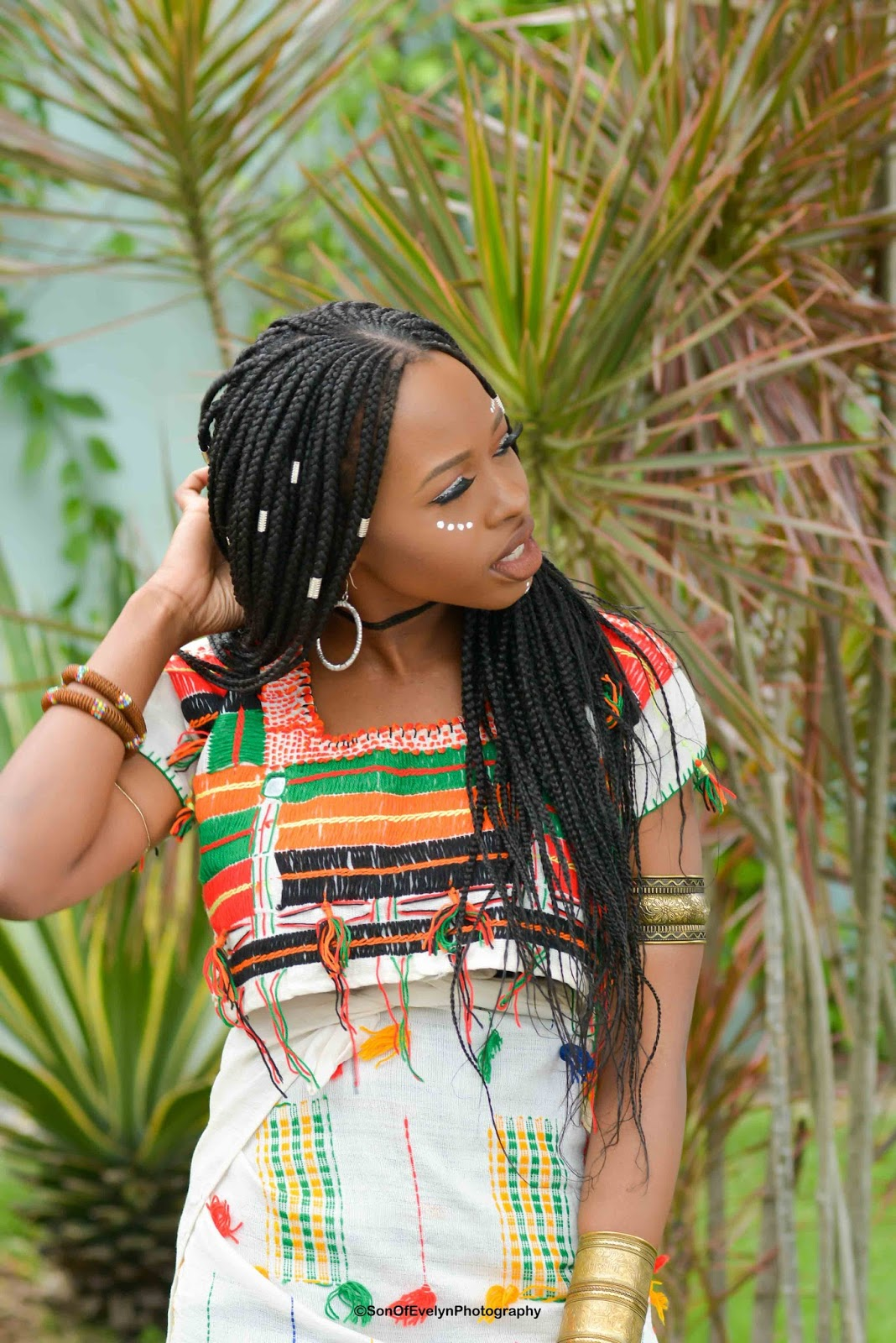 Fulani Braids & Beads Hairstyle