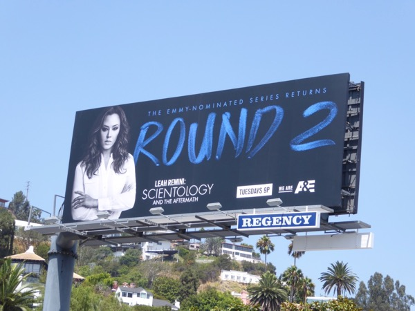 Leah Remini Scientology Aftermath Round 2 billboard