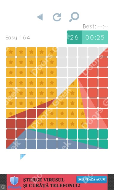 Cheats, Walkthrough for Blocks and Shapes Level 184