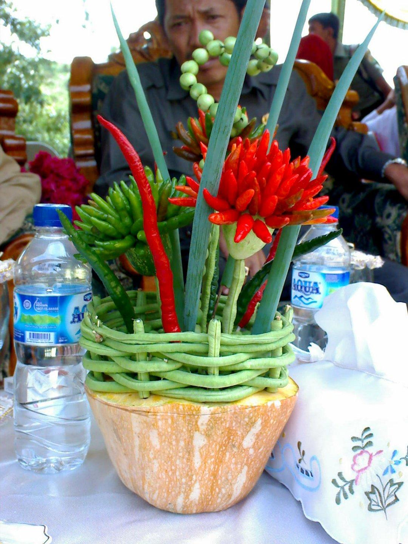Merangkai Bunga Dari Sayuran The Paradise Land