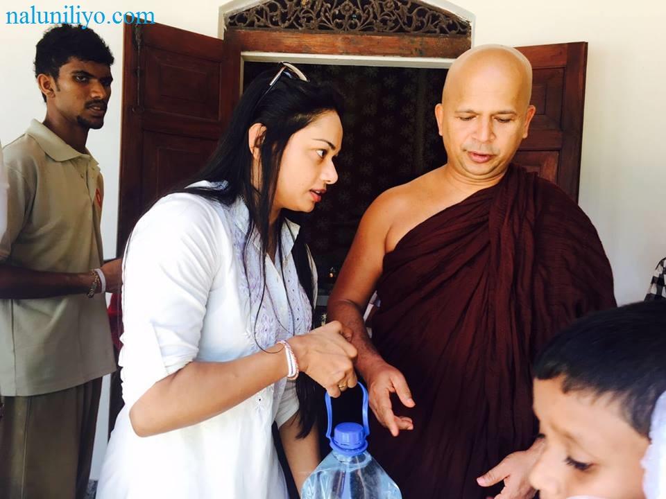 Janaki Wijerathne birthday almsgiving Uduwe Dhammaloka Thero
