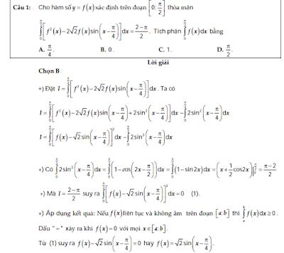 Bài tập tích phân vận dụng cao - có đáp án chi tiết