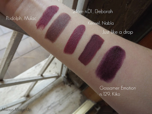 Swatches velvet ink Mulac