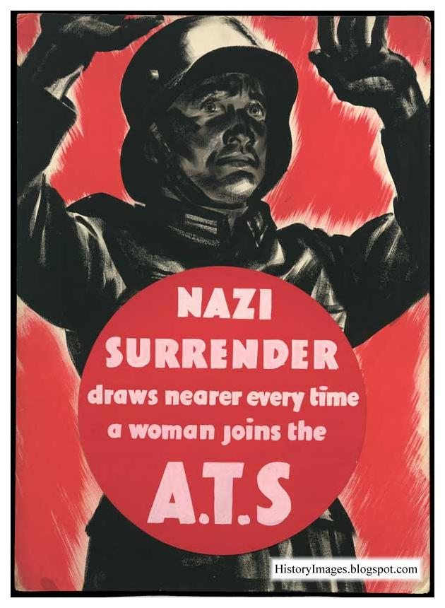 Nazi surrender comes nearer every time a woman enters into a subsidiary of the territorial services