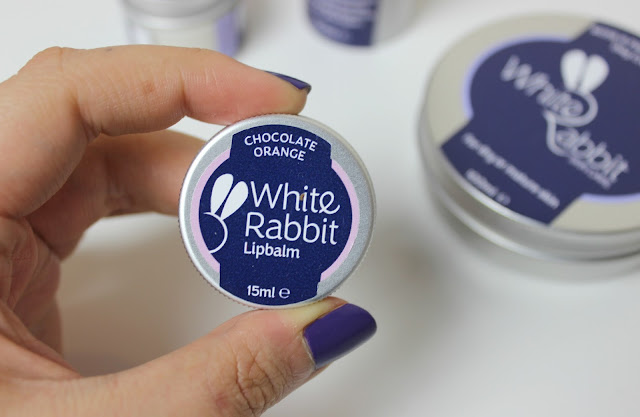 Vegan friendly White Rabbit Skincare Chocolate Orange Lip Balm