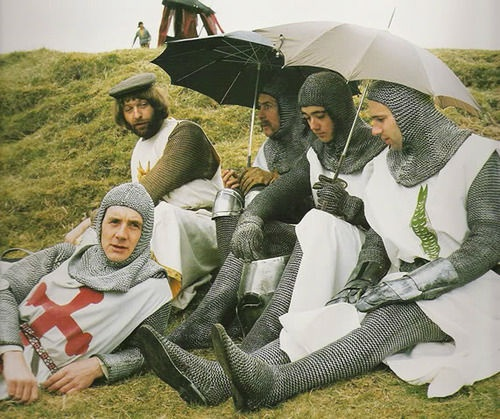 Monty Python The Royal Philharmonic Orchestra Goes To The Bathroom: Behind The Scenes' Photos Of Monty Python's Holy Grail