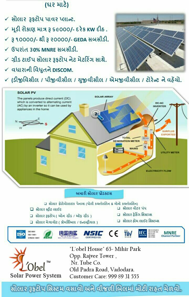 Lobel Solar Power System Mnre Amp Geda Subsidy For Solar