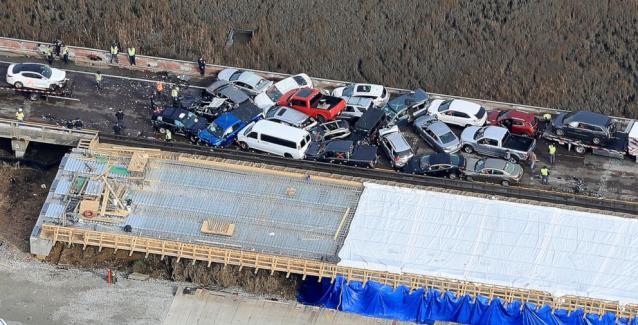 Καραμπόλα με 69 οχήματα στη Βιρτζίνια – Απίστευτες εικόνες drone  video