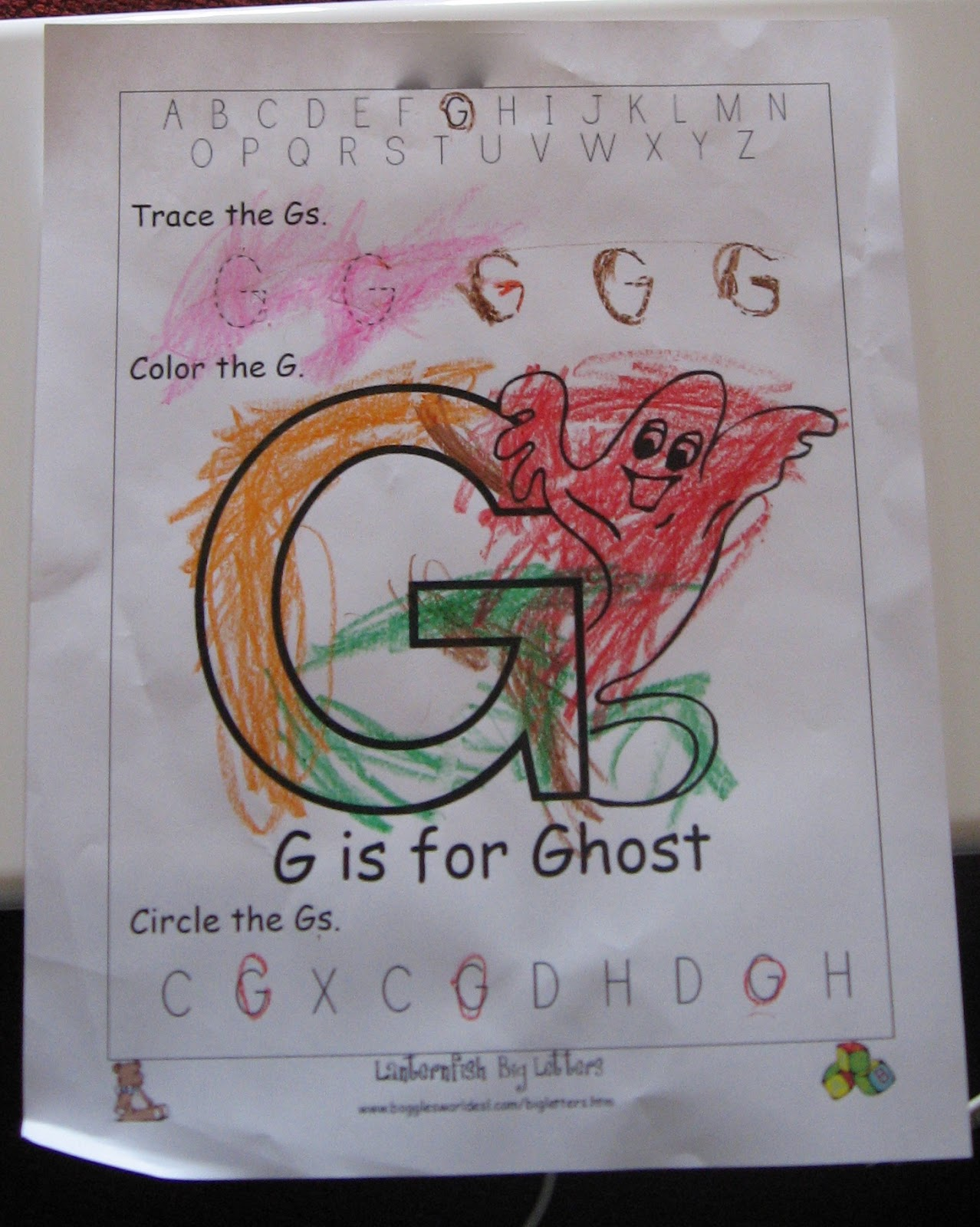 The Beautiful Thrifty Life Home Based Preschool G Is For