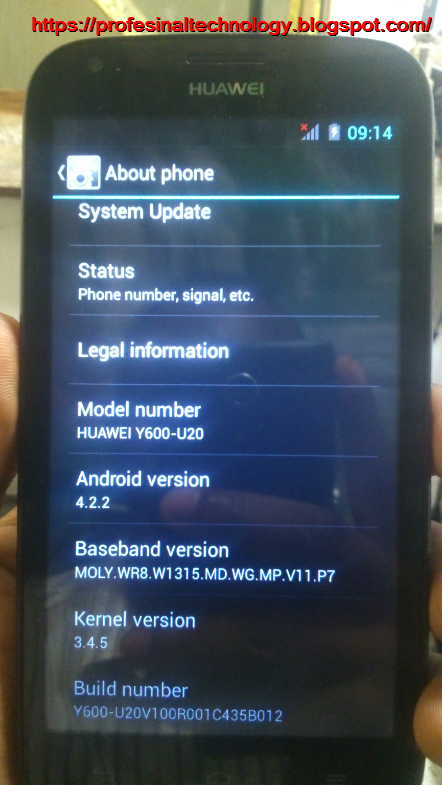 HUAWEI Y600-U20 MT6572 SOFTWARE UPGRADE TESTED WITH OUR TEAM