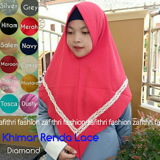 khimar renda lace bahan diamond